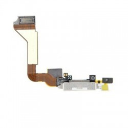 CONECTOR DOCK IPHONE 4 BLANCO CARGA USB