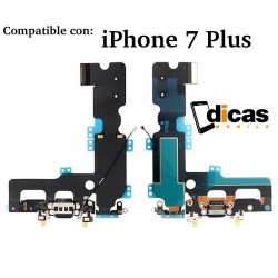 Conector de Carga iPhone 7 Plus Cable Flex Placa Repuesto USB Microfono Antena