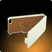FUNDA PIEL IPHONE 5 PCARO BLANCA