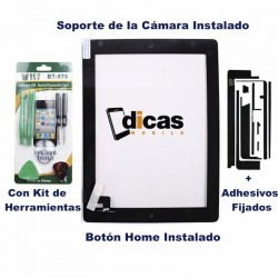 PANTALLA TACTIL IPAD 2 NEGRA TOUCH SCREEN CRISTAL