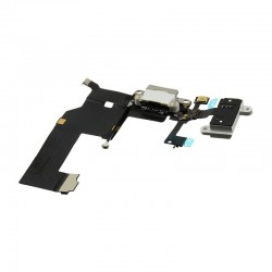 Flex Conector DOCK DE CARGA USB JACK IPHONE 5 ANTENA BLANCO
