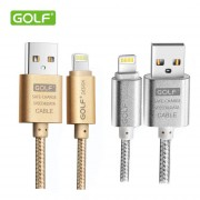 Cable Trenzado de Datos Golf ® iPhone 5, 5C, 5S, 6, 6 Plus Lightning Compatible con iOS 9