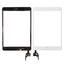 Pantalla Tactil Para iPad Mini 3 Con Chip IC + Boton Home Blanca