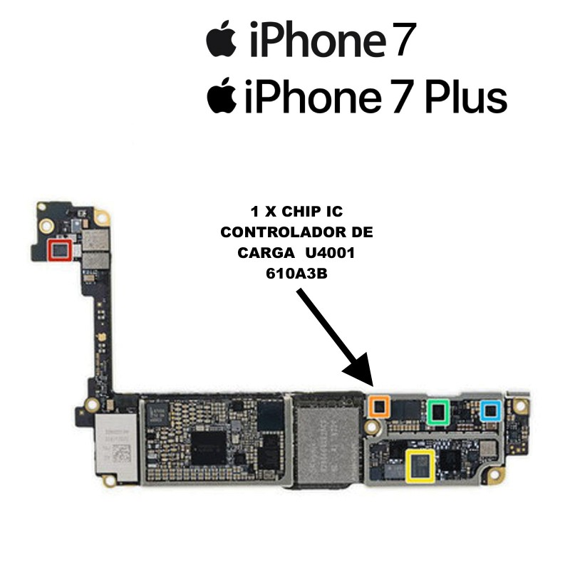 Chip iPhone 7 / 7 Plus IC Controlador de Carga USB 610A3B 610A38 36 pines U4001