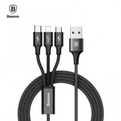 3 en 1 Cable Tipo USB a tipo C Micro USB Y Lightning Samsung Huawei Sony LG Xiaomi iPhone Baseus