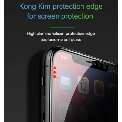 Protector Baseus Glass Film Anti-Espia Para iPhone X Anti-peeping 0.23mm