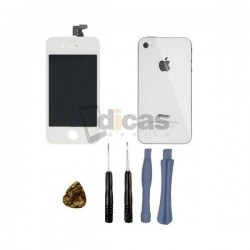 PACK PANTALLA IPHONE 4 BLANCA RETINA DISPLAY + TAPA TRASERA
